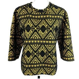 Zara Sweaters - ZARA Structured Lace Embroidered Pullover Sweater